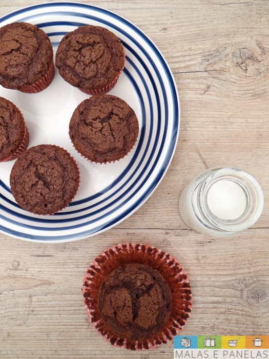 Muffin Brownie de Chocolate