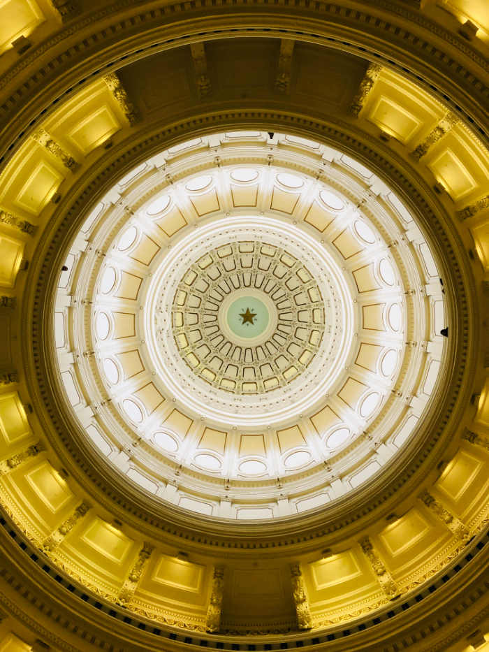 interior da cúpula do capitólio do Texas
